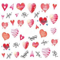 Valentine Water Decal 751