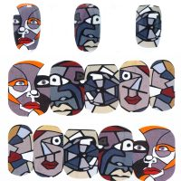 Abstract Face Water Decal Design 907