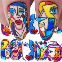 Abstract Face Water Decal Design 912
