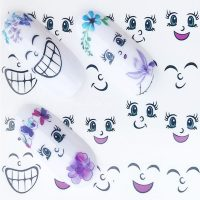 Cartoon Faces Water Decal
