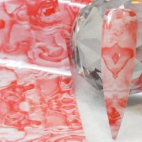 Marble Pattern Transfer Foil Coral