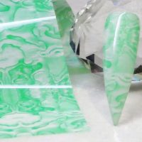 Marble Pattern Transfer Foil Peppermint