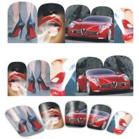Valentine Lips Car And Stiletto Water Decal Design 374