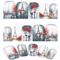 Valentine Eiffel Tower Water Decal Design 375
