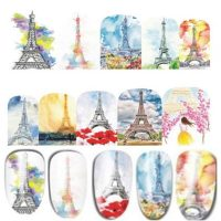Valentine Eiffel Tower Water Decal Design 377