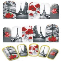 Valentine Eiffel Tower Water Decal Design 378