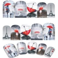 Valentine Eiffel Tower Water Decal Design 381
