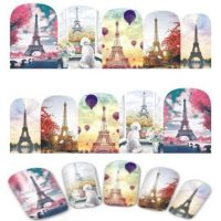 Valentine Eiffel Tower Water Decal Design 383