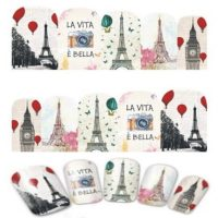 Valentine Eiffel Tower Water Decal Design 384