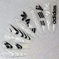 Adidas And Nike Vinyl Stickers
