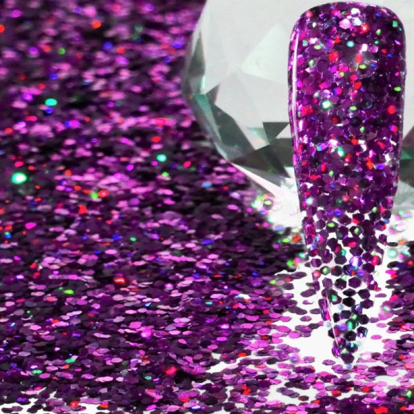 Purple Holographic .040 Thick Gauge