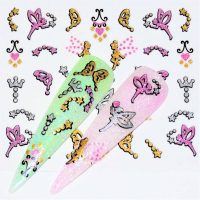 Glitter Pattern Sticker Fairy Design 980