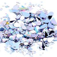AB Clear Teardrop Acrylic Rhinestones