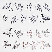 Butterfly Silver Water Decal Design 049