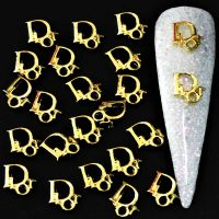 Dior Logo Gold Alloy Decoration x 1 Design 6