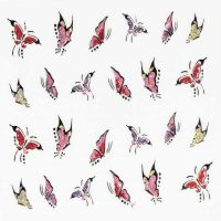 Glitter Pattern Sticker Butterfly Design 1000