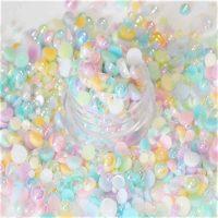 AB Pastel half Pearls