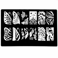 Butterfly Stamping Plate Design 010