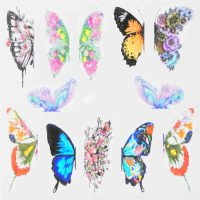 Butterfly Water Decal Design 002