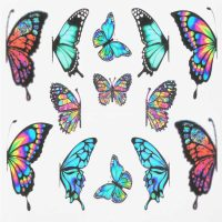Butterfly Water Decal Design 008
