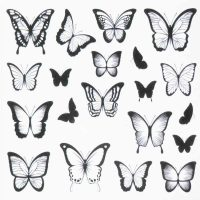 Butterfly Water Decal Design 014
