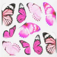 Butterfly Water Decal Design 984