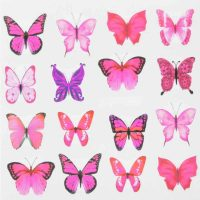 Butterfly Water Decal Design 986