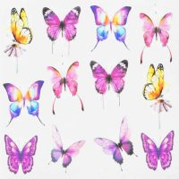 Butterfly Water Decal Design 994