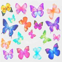 Butterfly Water Decal Design 996
