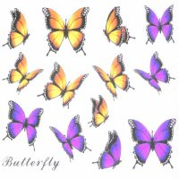 Butterfly Water Decal Design 998