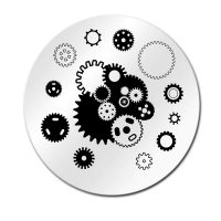 Cogs And Gears Stamping Plate Design 011