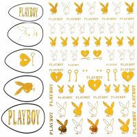 Playboy Gold Stickers