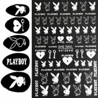 Playboy White Stickers