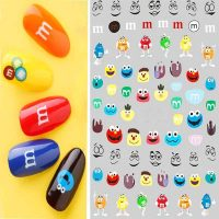 M&M's and Cartoon Nail Art Stickers