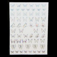 Silver Holographic Butterfly Stickers