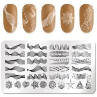 Wave Lines ans Swirls Stamping Plate