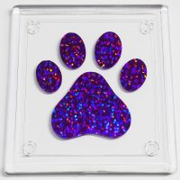 Coaster Purple Holographic Paw Print
