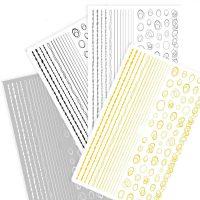 Hollow Geometry Scribble Line Stickers