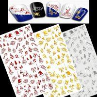 Christmas Nail Sticker Design 149