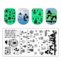 Christmas Stamping Plate Design 017