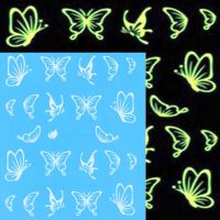 Glow In The Dark Butterfly Water Decal