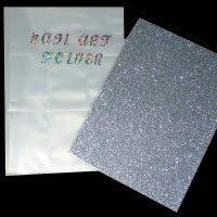 Nail Art Folder Silver Holographic