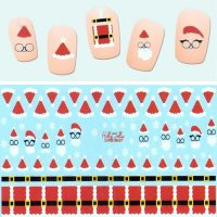 Santa Outfits and Snowflakes Water Decal