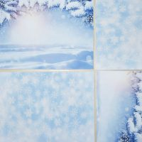 Snow Sceen And Snow Flakes Mat