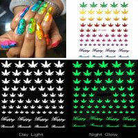Weed Leaf Nail Stickers