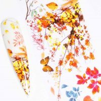 Butterfly And Autumn Leaf Transfer Foil