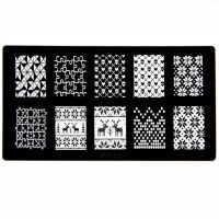 Christmas Halloween Puzzle Stamping Plate Design 11