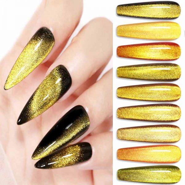 Cats Eye Gel Polish 15ml Gold