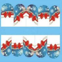 Christmas Bow and Snowflake Water Decal Design 206