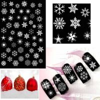 Christmas Snowflake Stickers White Design 34